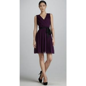 DKNY Purple StretchSilk Sleeveless Dress